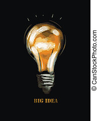 big idea over black background vector illustration eps8