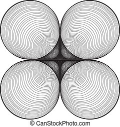 Black and White Abstract Psychedelic Background. Vector...