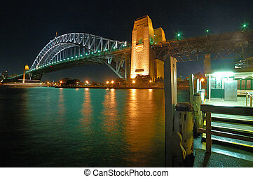 harbour bridge - night photo of harbour bridge in sydney