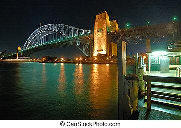 harbour bridge - night photo of harbour bridge in sydney