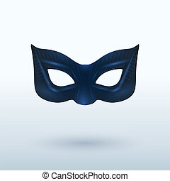 Black Leather Mask for Superhero. Vector Illustration.
