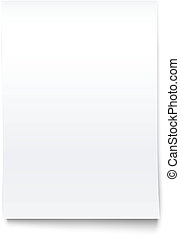 Isolated on White Blank Office Paper Mock-Up. Vector...