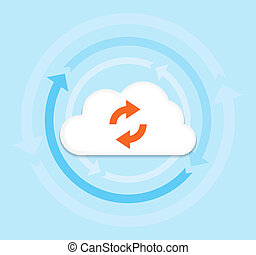Cloud Computing - This image is a vector file representing a...