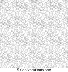 Seamless floral designer wallpaper