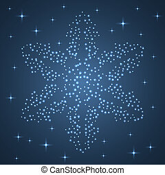 Bright Star Snowflake.