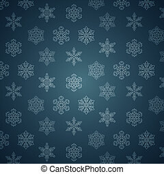 WInter Snowflakes Pattern.