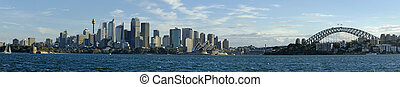 sydney panorama - sydney daytime panorama photo, opera...