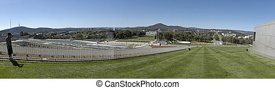 canberra panorama - panorama photo of Australian parliament...
