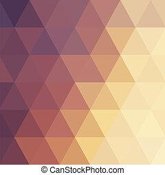 紫色, オレンジ, 三角, 背景