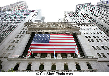 USA, New York, Wallstreet, Stock Exchange - Stock Exchange...