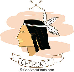 cherokee - vector illustartion of cherokee
