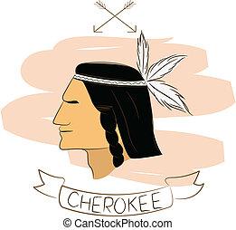 cherokee - vector illustartion of cherokee