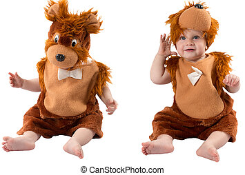 Adorable baby boy-teddy bear - Adorable baby boy,dressed in...