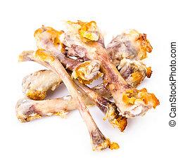 Chicken bones - Chicken wings bones on white background