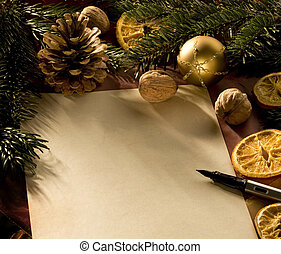 christmas letter - a blank christmas wish letter
