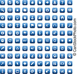 Set of 100 icons for web and interface - 100 web, business,...