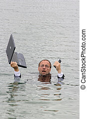 Manager in the water - manager in water
