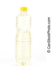 Oil bottle on white background
