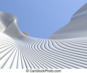 Modern architectural design. Abstract geometric shapes...