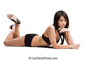 Beautiful sexy asian girl - An isolated shot of a beautiful...