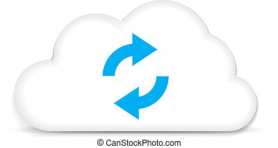 Cloud Backup - This image is a vector file representing a...