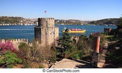 Rumelihisari castle inner courtyard - Rumeli Fortress,...