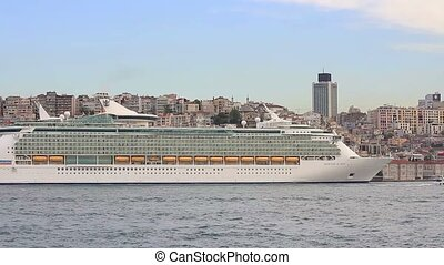 Cruise Ship docked in port - Karakoy Port receives 12,000...
