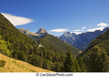 Predil Pass and Mount Mangart - Slovenia - Valley and...
