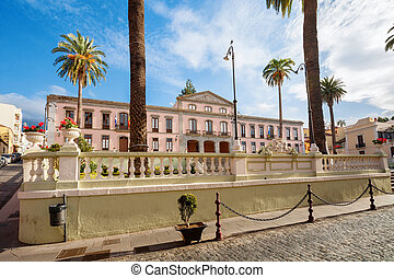 La Orotava. Tenerife, Canary Islands, Spain - Town Hall in...