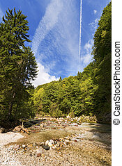Slizza (Gailitz) River Canyon in Tarvisio Italy - The river...