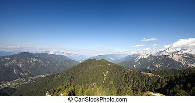 Aerial view from Monte Lussari - Italy - Panoramic view from...