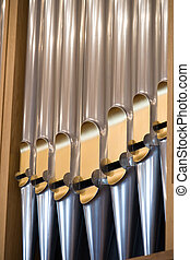 Details form A historic pipe organ in church