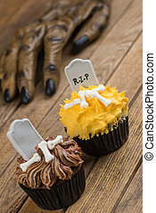 Lobisomem, mão, Alcançar,  Cupcake