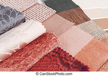 upholstery tapestry and curtain color selection for interior...
