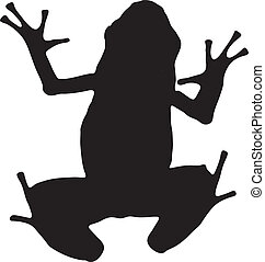 Vector graphic silhouette of an Azure Poison Dart frog