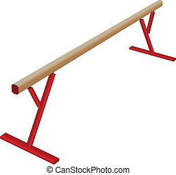 Athletic balance beam - Sports equipment in gymnastics for...