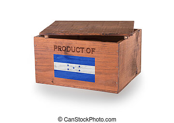 Wooden crate isolated on a white background, product of...