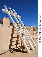 Kiva ladder New Mexico Pueblo  - Kiva ladder