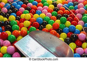 Colorful chewy candies for kids