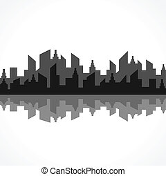 abstract black building design