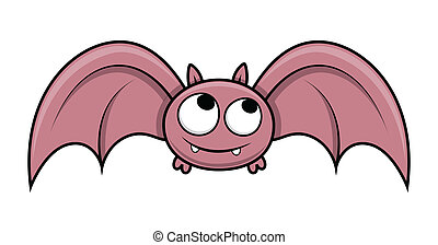 Cute Halloween Bat Flying