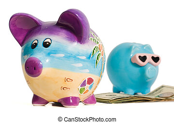 Money Between Two Piggy Banks