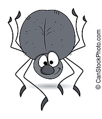 Funny Spider Vector - Drawing Art of funny spider vector...