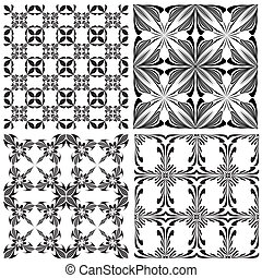 Contemporary Holy Cross pattern - Seamless silhouettes...