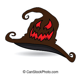 Scary Witch Hat Laughing Face