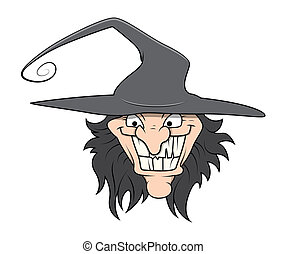 Halloween Witch Face Vector