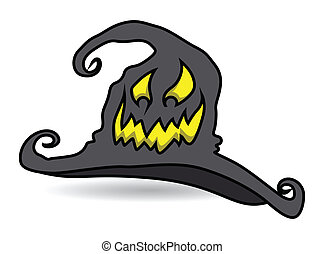 Scary Halloween Witch Hat Laughing