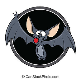 Cartoon Bat Vector - Drawing Art of Cartoon Halloween...