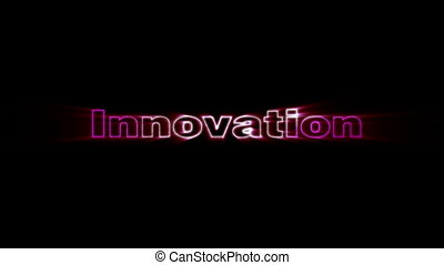 Innovation - HD animation with elements explosion