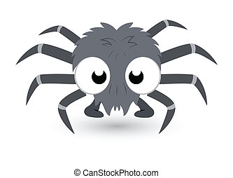 cute tiny spider vector - Drawing Art of Cartoon Funny...